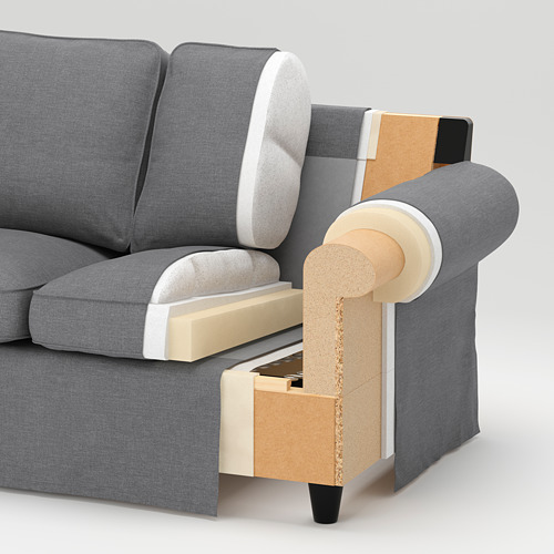 EKTORP sofa 3 dudukan dengan chaise longe