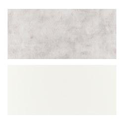 LYSEKIL - Panel dinding, dua sisi putih/abu-abu muda kesan beton