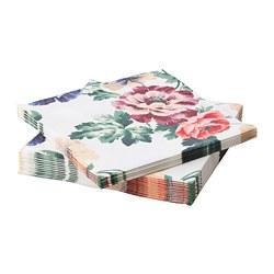 SMAKSINNE - Paper napkin, multicolour/flower