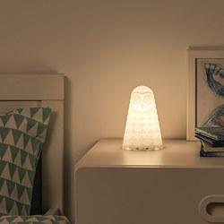 SOLBO - Lampu meja LED, putih burung hantu/dioperasikan dengan baterai