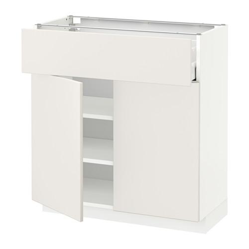 METOD/MAXIMERA kabinet dasar dengan laci/2 pintu