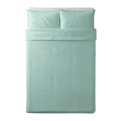BERGPALM sarung quilt dan 2 sarung bantal