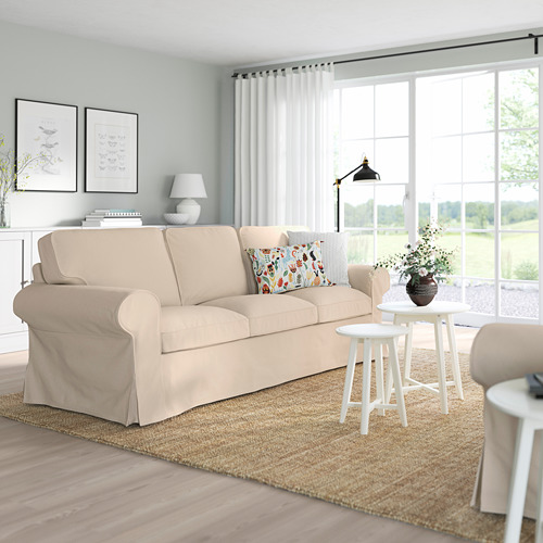 EKTORP - sofa 3 dudukan, Hallarp krem | IKEA Indonesia - PE774490_S4