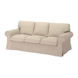 EKTORP - EKTORP, sofa 3 dudukan, Hallarp krem