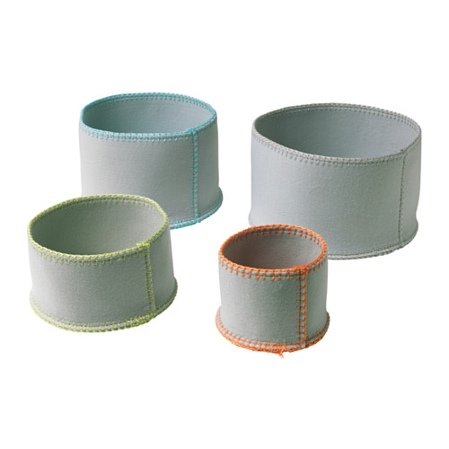 KNATTING basket, set of 4