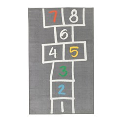HEMMAHOS - Play mat, grey