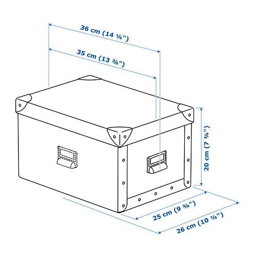 FJÄLLA storage box with lid