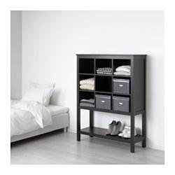 HEMNES - Storage unit, black-brown