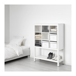 HEMNES - Unit penyimpanan, diwarnai putih