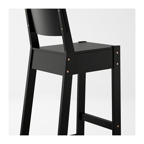 NORRÅKER kursi bar dengan sandaran