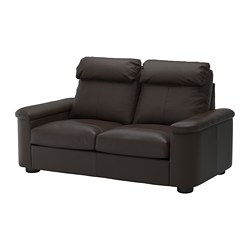 LIDHULT - 2-seat sofa-bed, Grann/Bomstad dark brown