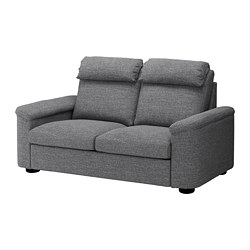 LIDHULT - Sofa 2 dudukan, Lejde abu-abu/hitam