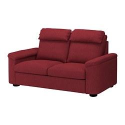 LIDHULT - Sofa 2 dudukan, Lejde merah-cokelat