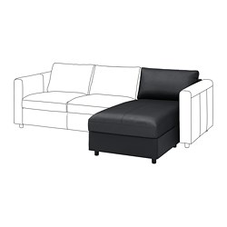 VIMLE - Bagian chaise longue, Grann/Bomstad hitam