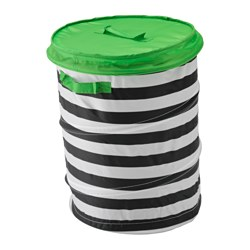 FLYTTBAR - Basket with lid, green