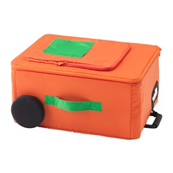 FLYTTBAR - Storage box, orange