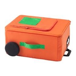 FLYTTBAR - Kotak penyimpanan, oranye
