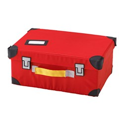 FLYTTBAR - Trunk for toys, red