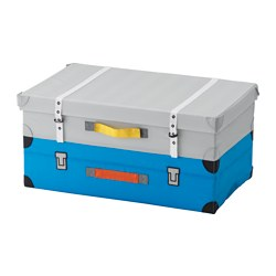 FLYTTBAR - Trunk for toys, turquoise
