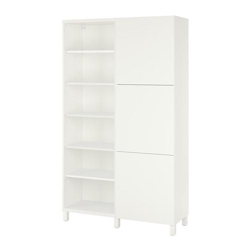 BESTÅ - kombinasi penyimpanan dengan pintu, putih/Lappviken/Stubbarp putih, 120x42x202 cm   IKEA Indonesia - PE731957_S4