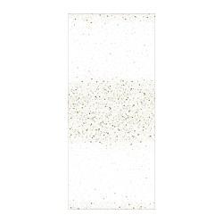 VINTERFEST - Taplak meja, berpola/putih/warna emas