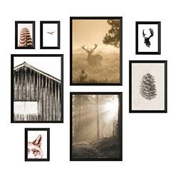 KNOPPÄNG - KNOPPÄNG, bingkai dengan poster, set isi 8, In the woods