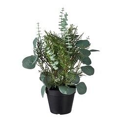 FEJKA - Artificial potted plant, in/outdoor arrangement/green