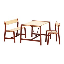 YPPERLIG - Children's table w bench and chair