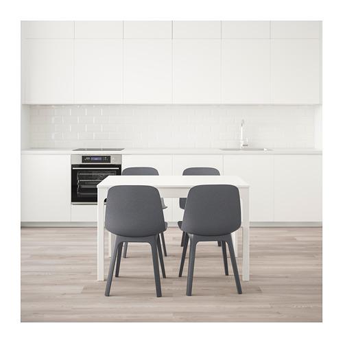 ODGER/EKEDALEN meja dan 4 kursi