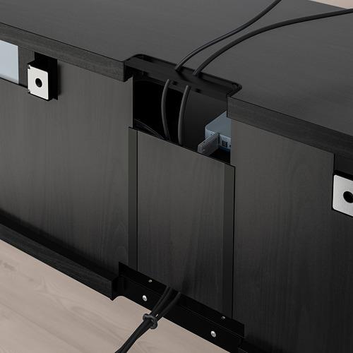 BESTÅ meja TV dengan pintu