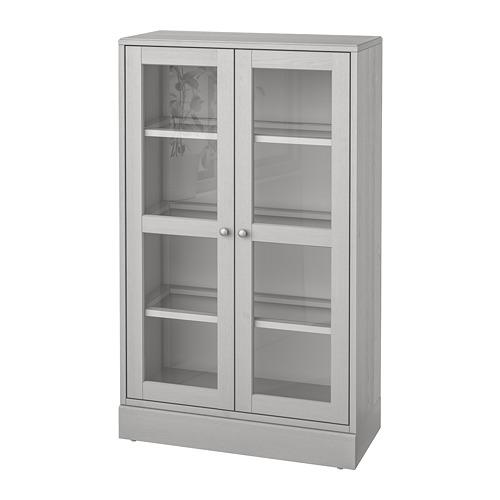 HAVSTA kabinet pintu kaca dengan lis bawah