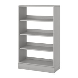 HAVSTA - Shelving unit with plinth, grey