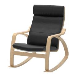 POÄNG - Rocking-chair, birch veneer/Smidig black