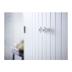 SILVERÅN/HAMNVIKEN - Kabinet wastafel dengan 2 pintu, putih/Keran Lillsvan