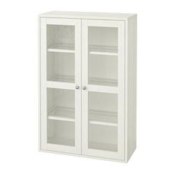 HAVSTA - HAVSTA, kabinet pintu kaca, putih, 81x35x123 cm