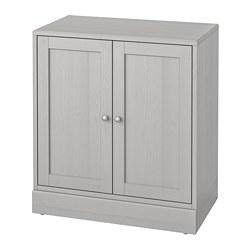 HAVSTA - Kabinet dengan lis bawah, abu-abu, 81x47x89 cm