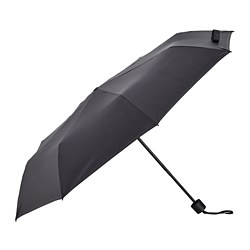 KNALLA - Payung, dapat dilipat hitam