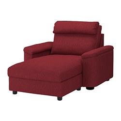 LIDHULT - Chaise longue, Lejde merah-cokelat
