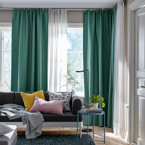 VILBORG room darkening curtains, 1 pair