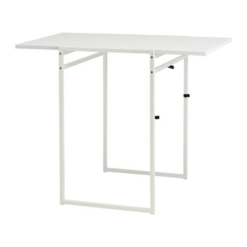 MUDDUS meja dengan daun meja lipat