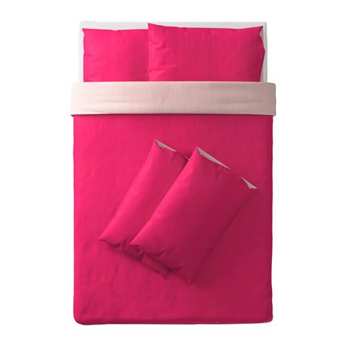 DVALA sarung quilt dan 4 sarung bantal