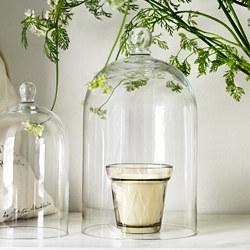 VÄLDOFT - Lilin beraroma dalam gelas, Rhubarb elderflower/krem