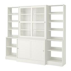 HAVSTA - Komb pnympn dg pintu kaca geser, putih