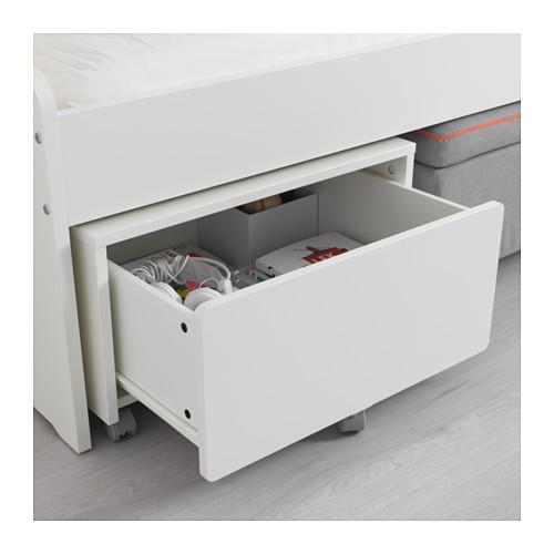 SLÄKT storage box with castors