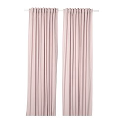 KALKFLY - Curtains, 1 pair, light pink