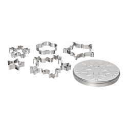VINTER 2020 - 5 pastry cutters with tin, assorted shapes