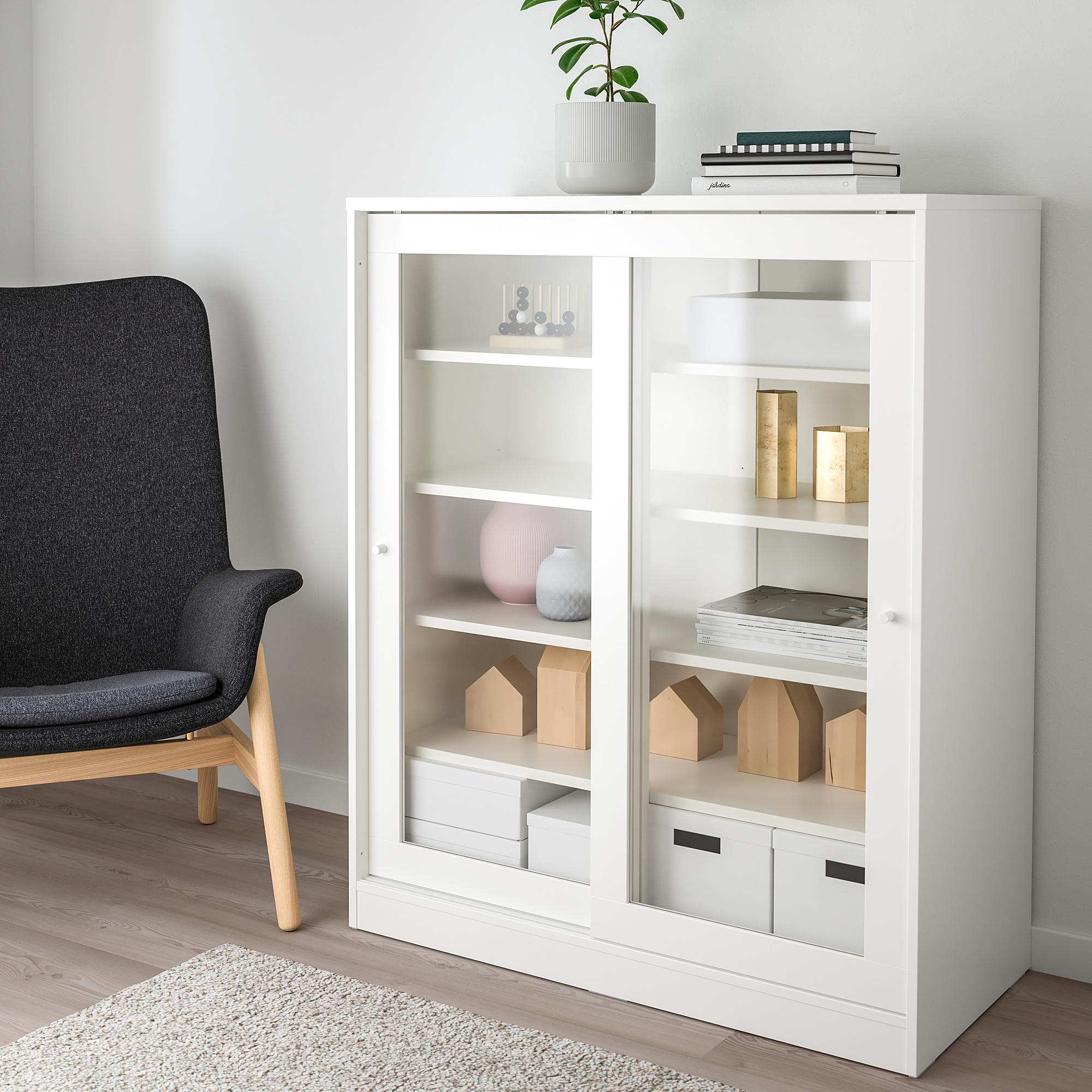 Syvde Kabinet Dengan Pintu Kaca Putih Ikea Indonesia