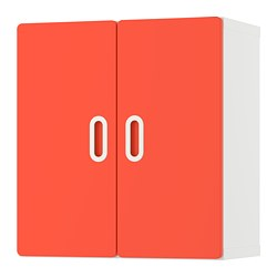 FRITIDS/STUVA - Wall cabinet, white/red