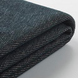 VIMLE - Sarung untuk sofa 2 dudukan, Tallmyra hitam/abu-abu