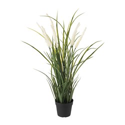 FEJKA - Artificial potted plant, in/outdoor decoration/grass